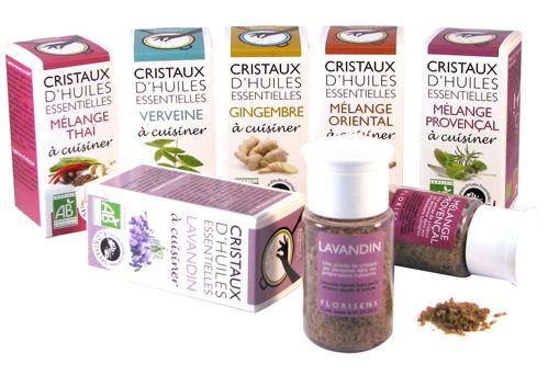Cristaux d'huiles essentielles pour la cuisine Florisens