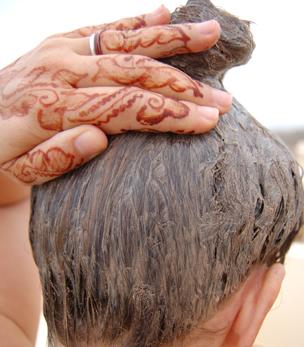 Masque cheveux au rhassoul