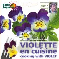 radis et capucine violette comestible