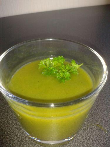verrine soupe froide courgette carotte